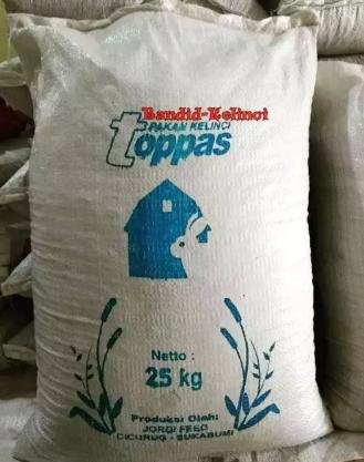 Toppas pakan khusus kelinci eceran 1 kg