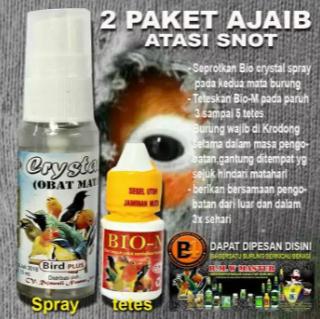 Bio Crystal snot obat mata untuk semua jenis burung berkicau